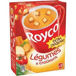 Royco Royco Soupe légumes & croûtons les 3 sachets de 25,4 g