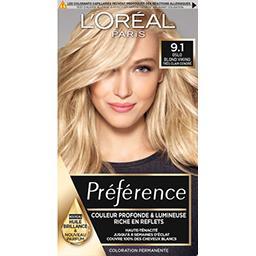 L'Oréal L'Oréal Paris Récital préférence Z, coloration permanente Viking blond clair clair cendré la boîte,164ml
