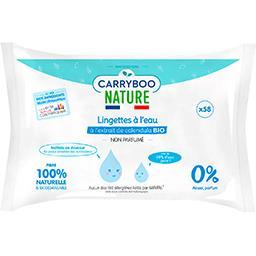 Carryboo Carryboo Nature - Lingettes à l'eau calendula BIO non parfumé le paquet de 58