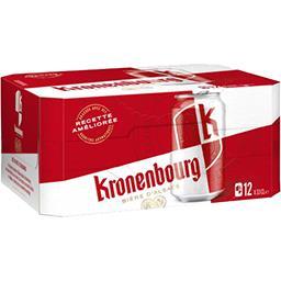 Kronenbourg Kronenbourg Bière d'Alsace les 12 canettes de 33 cl