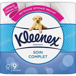 Kleenex Kleenex Papier toilette Soin Complet le paquet de 9 rouleaux
