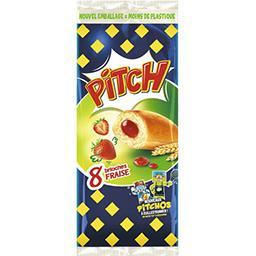 Pasquier Brioche Pasquier Pitch - Brioches goût fraise les 8 brioches de 37,5 g