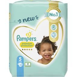 Pampers Pampers Couches premium protection taille 6, 11kg-16kg Le paquet de 19 couches