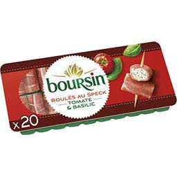 Boursin Boursin Apéritif - Roulés de fromage jambon fumé et tomate & basilic le plateau de 20 roulés - 100 g