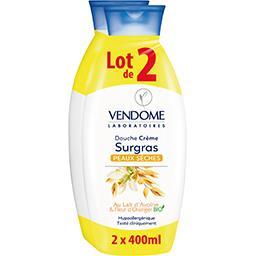 Laboratoires Vendome Laboratoires Vendôme Douche crème surgras lait d'avoine & fleur d'oranger BIO le lot de 2 flacons de 400 ml