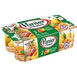 Yoplait Panier de Yoplait Yaourt sucré Les Fruits Jaunes les 8 pots de 130 g