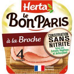 Herta Herta Le Bon Paris - Jambon à la broche la barquette de 4 tranches - 140 g