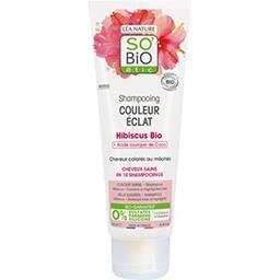 Léa Nature So'bio Etic Shampooing cheveux colorés ou mêchés, Hibiscus bio & acide laurique de Coco le tube de 250ml