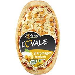 Sodeb'O Sodebo L'Ovale - Pizza 3 fromages fondants la pizza de 200 g