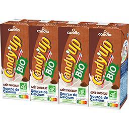 Candia Candia Candy'Up - Boisson lactée goût chocolat BIO les 4 brique de 20 cl