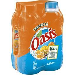 Oasis Oasis Boisson tropical à l'eau de source les 4 bouteilles de 50 cl