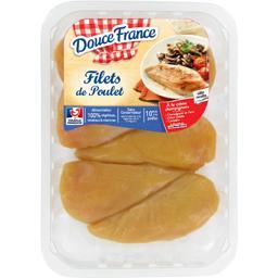 Douce France Le gaulois Filets de poulet jaune la barquette de 6 - 720 g environ