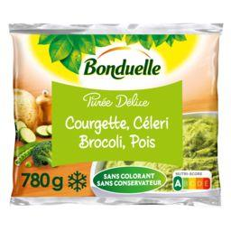 Bonduelle Bonduelle Purée délice vert courgettes, céleri brocolis, pois le sachet de 780 g