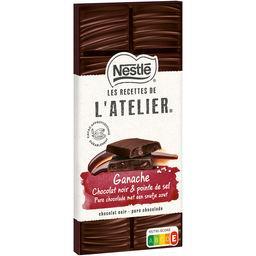 Nestlé Nestlé Grand Chocolat Les Recettes de l'Atelier - Chocolat noir ganache pointe sel la tablette de 144 g