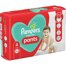 Pampers Pampers Couches-culottes baby-dry pants taille4, 9-15kg Le paquet de 41 couches