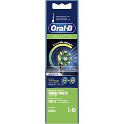 Oral B Oral B Brossette cross action édition noire Le lot de 2 brossettes