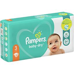Pampers Pampers Couches baby-dry taille 3, 6-10kg Le paquet de 52 couches