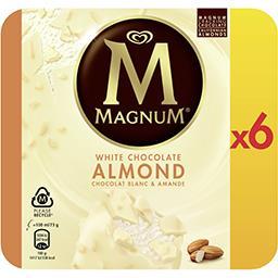 Magnum Magnum Glace chocolat blanc et amande la boîte de 6 bâtonnets - 438g