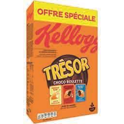 Kellogg's Kellogg's Trésor - Céréale Choco Roulette 3 saveurs la boite de 750 g