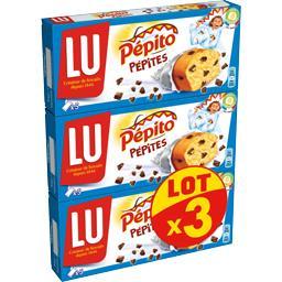 LU LU Pépito - Gâteau Pépites les 3 boites de 150 g