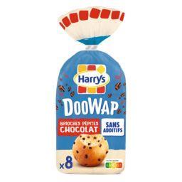 Harry's Harrys Doowap Brioches aux pépites de chocolat Sans Additifs le paquet de 8 - 320g