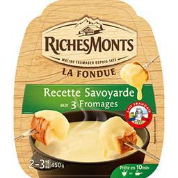 Riches Monts Riches Monts La Fondue recette savoyarde aux 3 fromages le sachet de 450 g