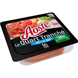Aoste Aoste le Quart tranché sel réduit la barquette de 16 tranches - 200 g