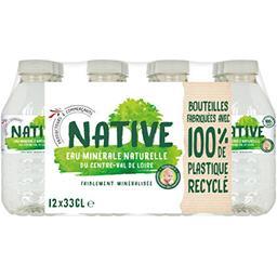 Native Native Eau minérale naturelle du Centre-Val De Loire les 12 bouteilles de 33 cl