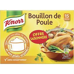 Knorr Knorr Bouillon cube de poule, offre saisonnière la boîte de 15 - 150g