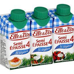 Elle & Vire Elle & Vire Crème semi-épaisse si légère 4% MG les 3 briques de 20 cl