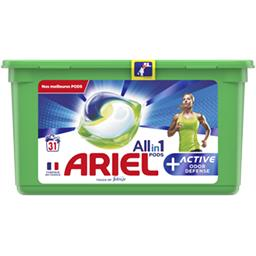 Ariel Ariel Lessive en capsules All in 1 pods + défense active contre les odeurs La boîte de 31 lavages