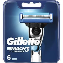 Gillette Gillette Recharges de lames de rasoir pour homme Mach3 Turbo Le paquet de 6 lames