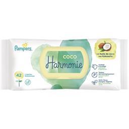 Pampers Pampers Lingettes pour bébé harmonie avec de l'huile de coco Le paquet de 42 lingettes