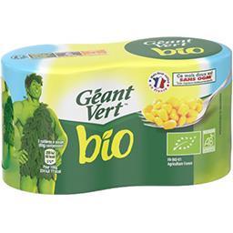 Géant Vert Géant Vert Maïs doux BIO les 2 boites de 140 g net égoutté
