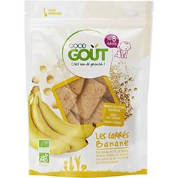 Good Goût Good Goût Carrés banane BIO, dès 8 mois le sachet de 50 g