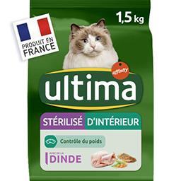 Ultima Ultima croquettes pour chat stérilisé d'intérieur dinde le sac de 1,5 kg