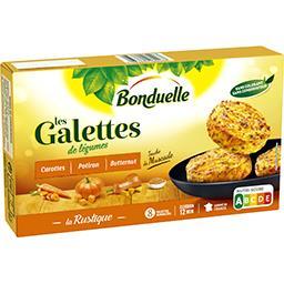 Bonduelle Bonduelle Galettes de légumes carottes potiron butternut la boite de 8 galettes - 300 g