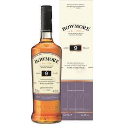 Scotch Bowmore Whisky 9 ans d'âge 40° la bouteille de 70cl