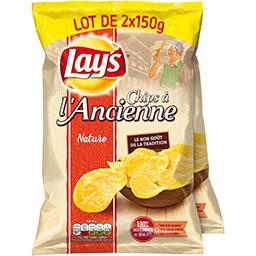 Lay's Lay's Chips à l'ancienne nature les 2 paquets de 150 g