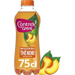 Contrex Contrex Green - Boisson thé noir saveur pêche BIO la bouteille de 75 cl