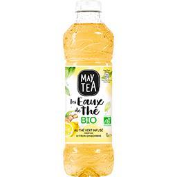 May Tea May Tea Les Eaux de Thé - Boisson thé vert citron gingembre BIO la bouteille de 1 l