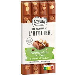 Nestlé Nestlé Grand Chocolat Les Recettes de l'Atelier - Chocolat au lait noisettes entières torréfiées la tablette de 170 g