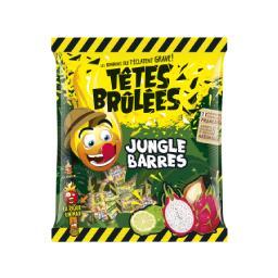 Têtes Brûlées Têtes Brûlées Bonbons Jungle Barres le paquet de 150 g