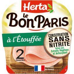 Herta Herta Le Bon Paris - Jambon à l'étouffée la barquette de 2 tranches - 70 g