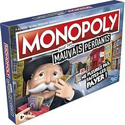 Hasbro Hasbro Gaming Monopoly pour les mauvais perdants, à partir de 8 ans la boite