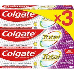 Colgate Colgate Total - Dentifrice Plaque Protection le lot de 3 tubes de 75 ml