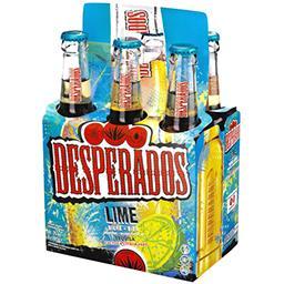 Desperados Desperados Lime - Bière aromatisée Tequila citron vert cactus les 6 bouteilles de 33cl
