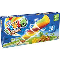 Pirulo Pirulo Glace à l'eau Tropical les 4 glaces de 80 g