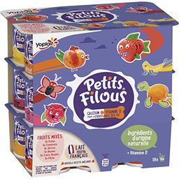 Yoplait Yoplait Petits Filous - Spécialité laitière fruits mixés les 18 pots de 50 g