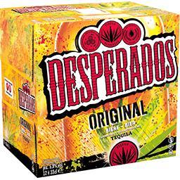 Desperados Desperados Original - Bière aromatisée Tequila les 12 bouteilles de 33cl